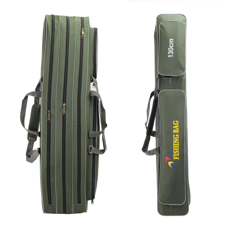 ФОТО 1.3 meters 1.4 meters 1.6 meters plus size thickening canvas fishing rod bag fishing tackle pole package bag 3 layer fishing bag