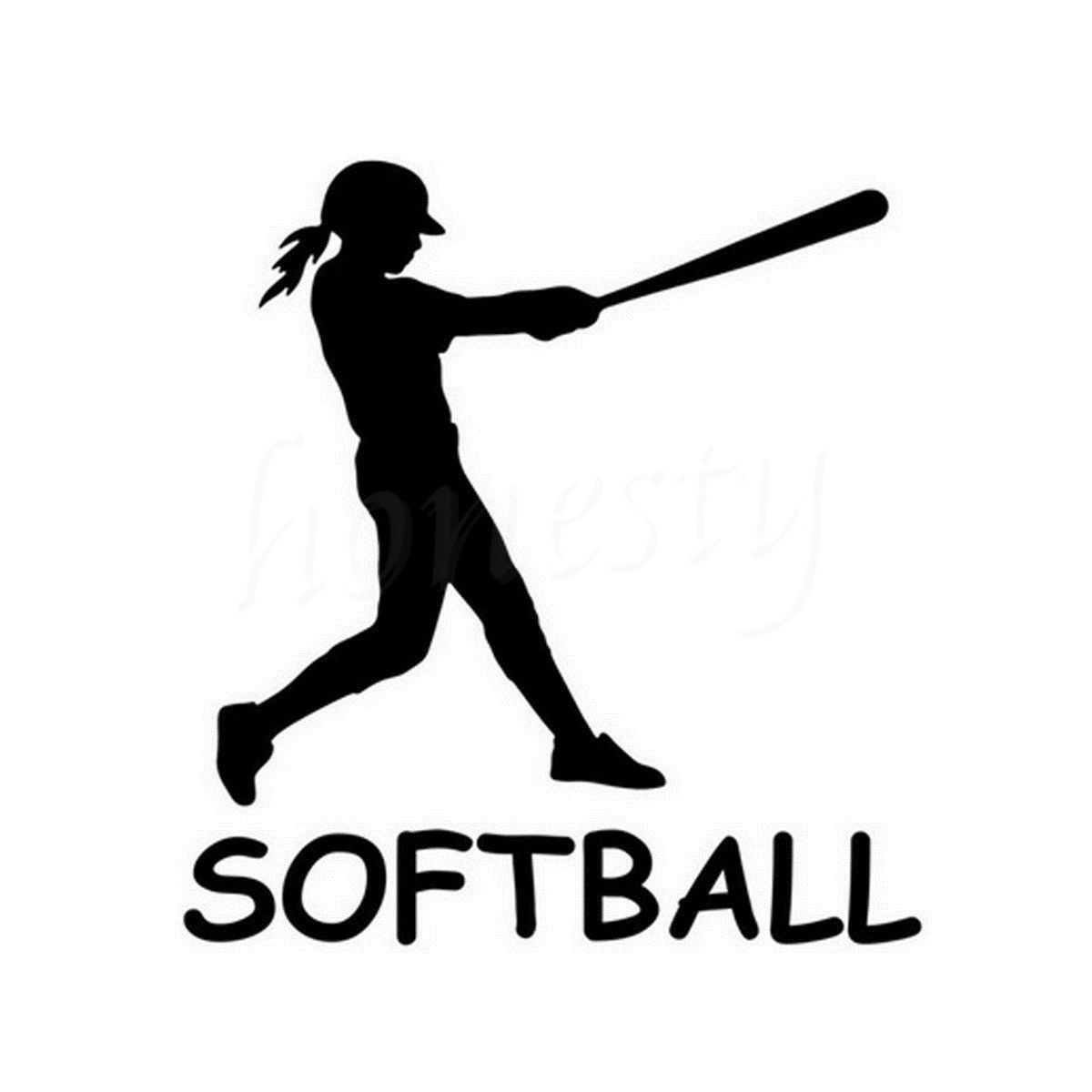 Girls Softball Sports Car Sticker Wall Home Glass Window