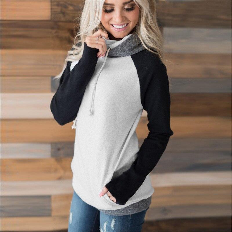elsvios 2017 double hood hoodies sweatshirt women autumn long sleeve side zipper hooded casual patchwork hoodies pullover femme ELSVIOS 2017  hoodies, Autumn Long Sleeve HTB1ET
