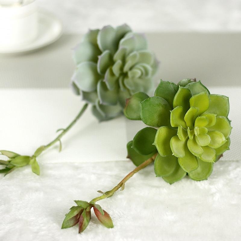 Keythemelife Simulation Succulent Conjoined with Flowers Pauline Artificial Succulents Plants Garden Decor DIY Accessories E
