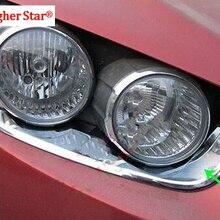 Более высокая звезда 2 Шт Автомобильные фары украшения полосы, фары украшения Рамка для CHEVROLET Aveo/Sonic SEDAN/хэтчбек 2011-2013