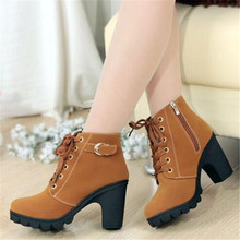 LAIDILANGTU 2018 Europe and the United States autumn and winter high-quality snow boots warm rough with women's boots