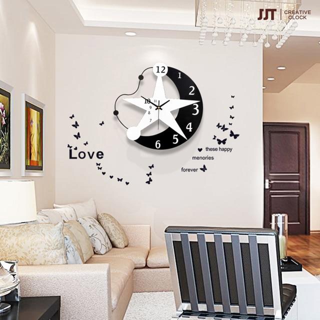 Handwerk Kunst Dekoration Kreative Persönlichkeit Mond Uhr Mode