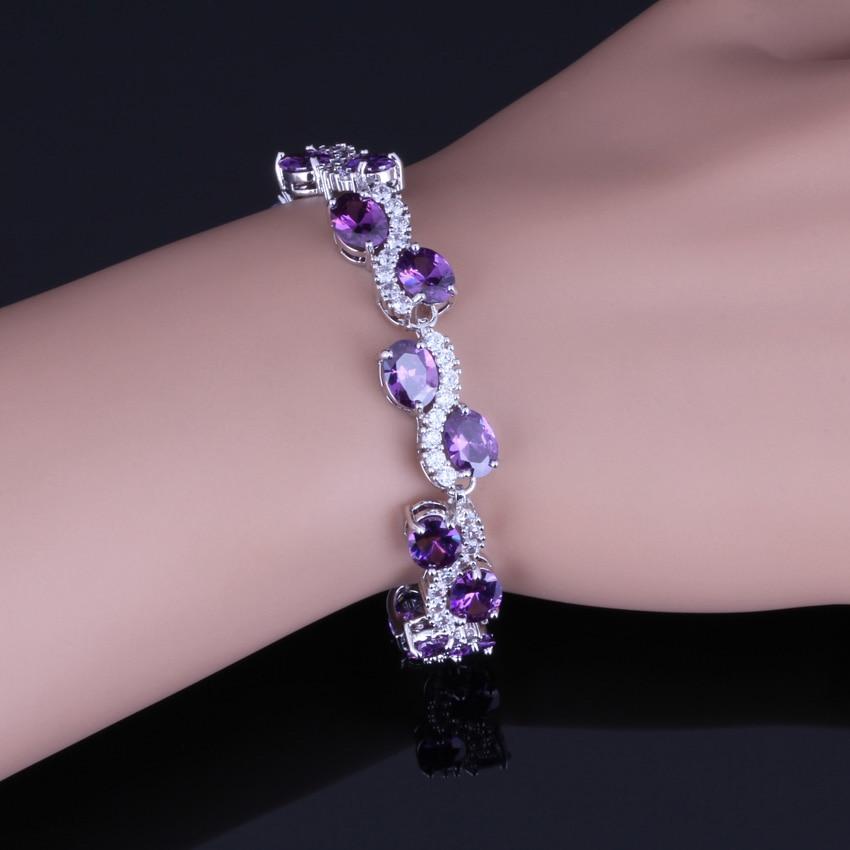 Zircon bracelet Silver bracelet for her Sapphire jewelry Sapphire bracelet Natural sapphire 925 Sterling silver bracelet Stone bracelet