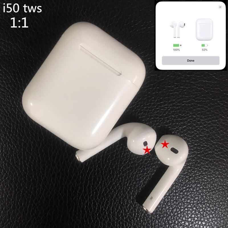 I50 TWS 1:1 w1 puce écouteurs Pop-up Animation Bluetooth 5.0 casque sans fil Bluetooth écouteurs pk i10 i40 i30 i20 tws lk-te9