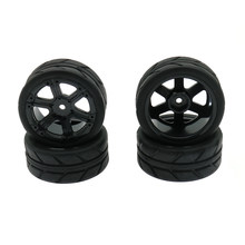 RCAWD Velg Band/tire Set 4 stks/set 6 Spoke 1:10 On Road 63mm Speelgoed Model Auto C20505 c20509 Tire Set Model Onderdelen(China)