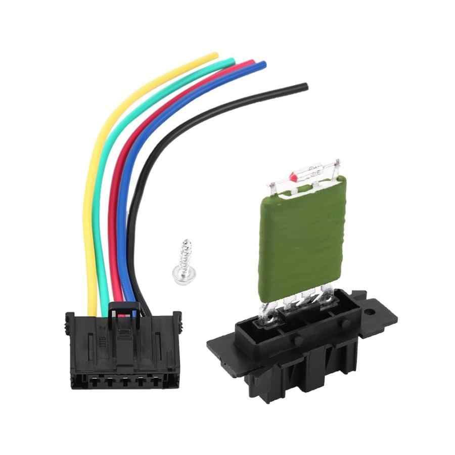 Heater Blower Resistor Car Heater Fan Resistor Motor Heater Motor Blower Resistor with Plug Wiring Harness