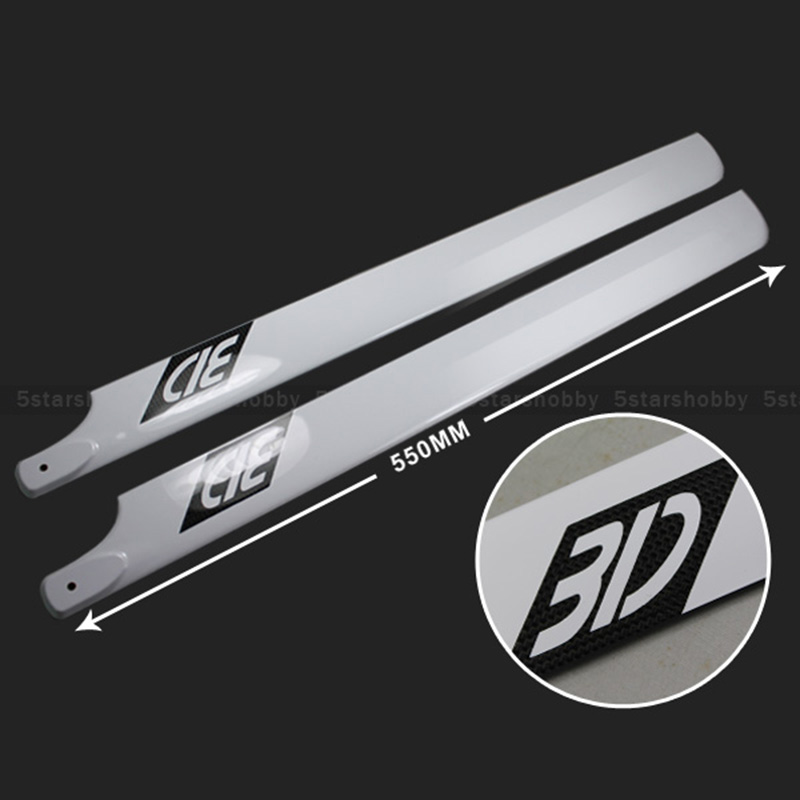 550mm Carbon Fiber Main Rotor Blade For T rex 550 and Raptor 30 Helicopter