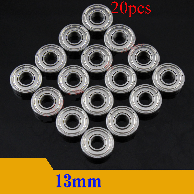 20PCS NMB Ball Bearing 13mm Bearing Guide Wheel 5*13*4mm Sealed Dustproof Roller <font><b>Pulley</b></font> for RC Tamiya Mini 4WD Racing <font><b>Car</b></font> Model image