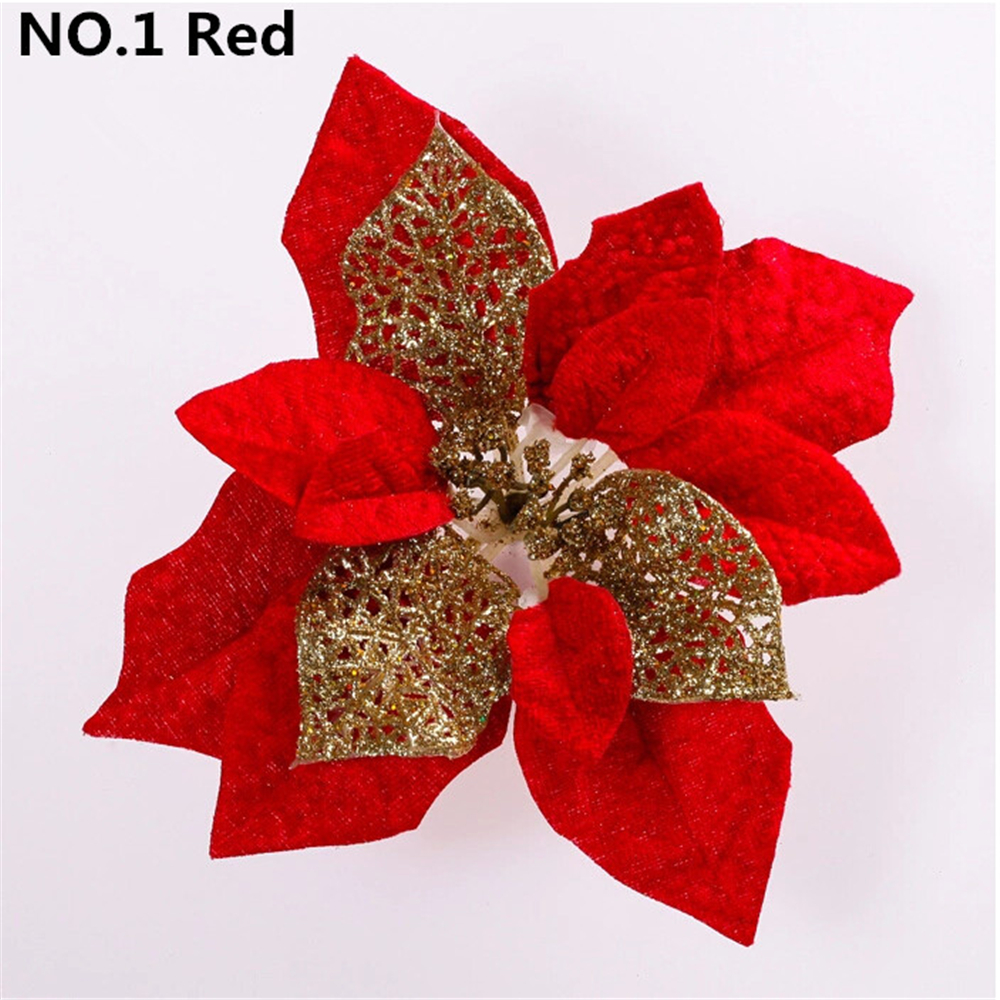 Merry Christmas! 5pcs/lot Diameter Decoracion Navidad Hogar Cristmas Flower Decoration enfeite de natal Xmas Natal Tree Ornament