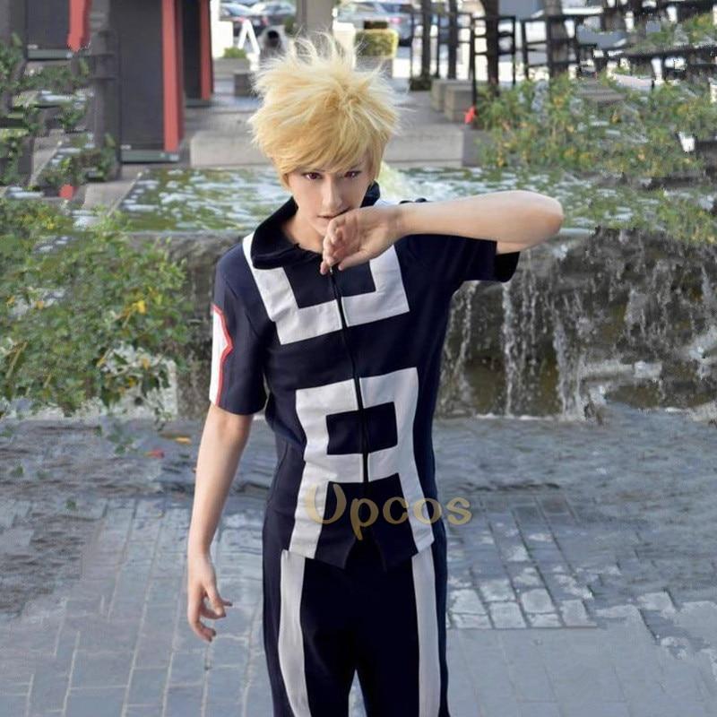 Boku no Hero Academia bakugou katsuki Todoroki Shoto Yaoyorozu Momo Gym Suit School Uniform My Hero Academia Cosplay Costume