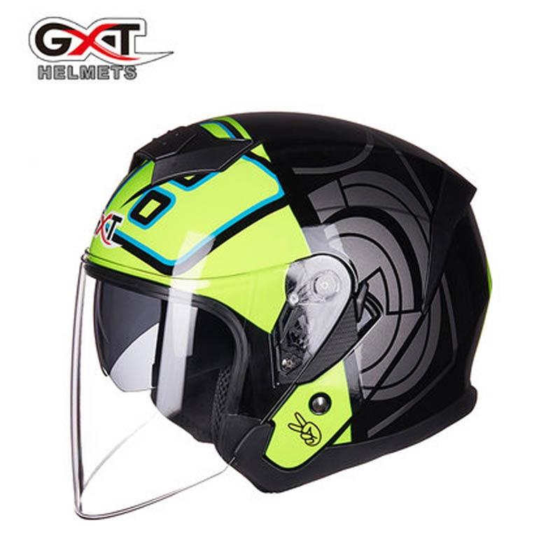 New arrive GXT motorcycle helmet half face double lens moto helmets men women summer capaceteNew arrive GXT motorcycle helmet half face double lens moto helmets men women summer capacete