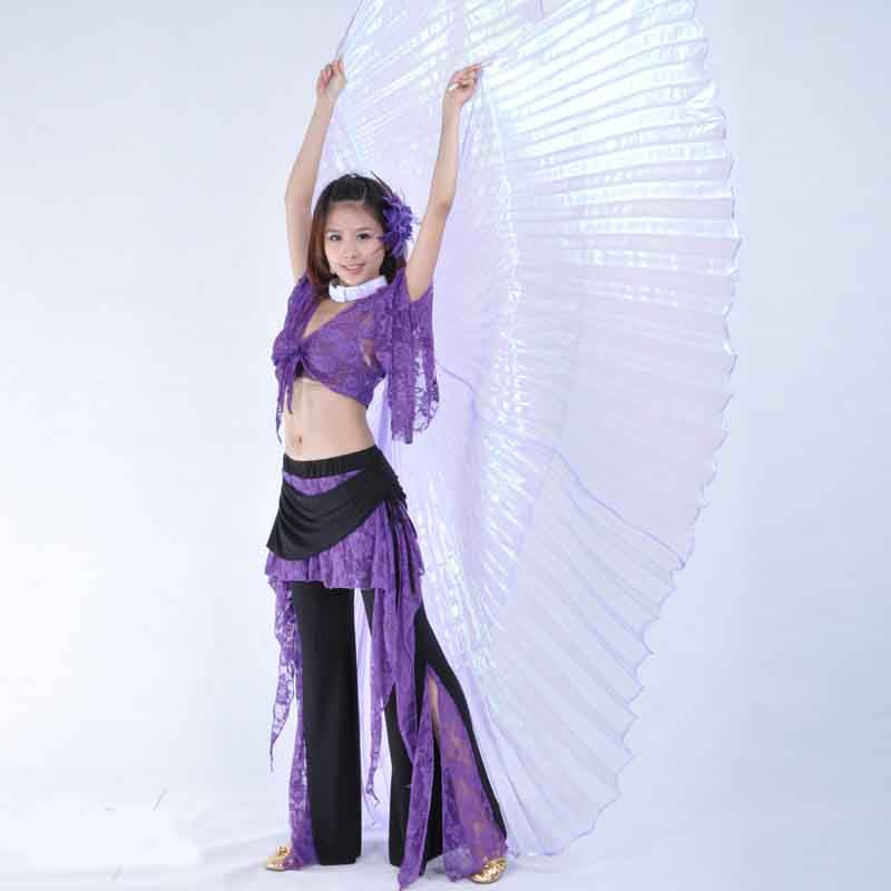 High quality egypt Belly Dance Isis Wings For Adult India Dancer Bellydance Costume Accessories With Stick Stage Performance