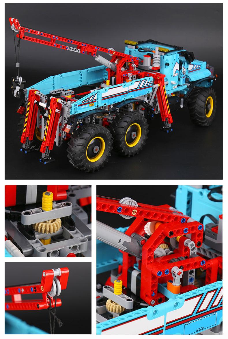 БДХ лепин 20056 техника серии конечной вездеходный 6х6 дистанционное управление грузовик набор строительных конструкторы кирпичи игрушечные лошадки legoingly 42070
