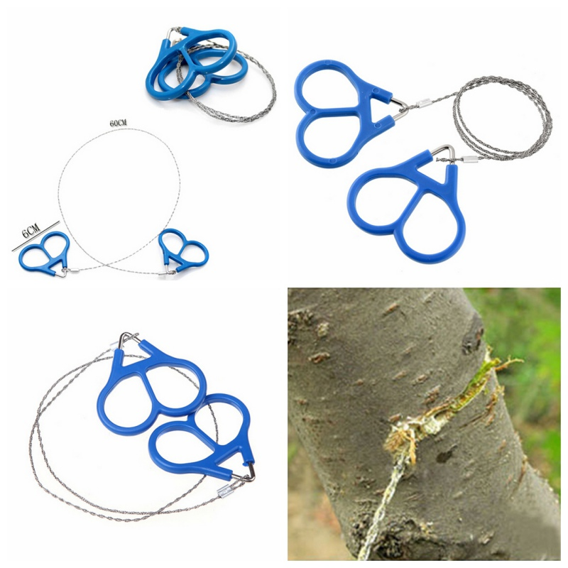 Outdoor Emergency Stainless Steel Scroll Wire Saw Hiking Camp Survival Tools