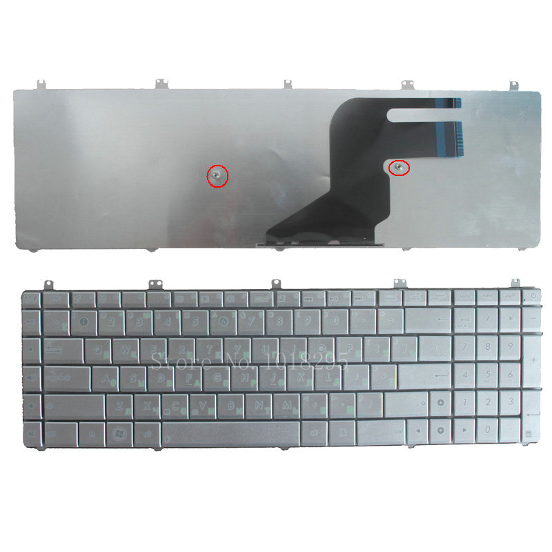 NEW Russian <font><b>Keyboard</b></font> for <font><b>Asus</b></font> N55 <font><b>N55S</b></font> N55SL N55SF RU Laptop SILVER image