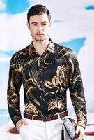Новая весенняя рубашка с длинными рукавами Для мужчин; шелк тутового Бизнес Рубашка для отдыха шелковая рубашка