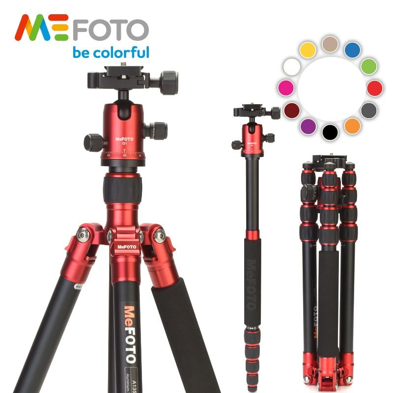 MeFOTO A1350Q1 Metalik Renkler Alüminyum Tripod Kamera Seyahat - Kamera ve Fotoğraf