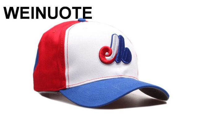 Men s Montreal Expos Strapback Hats Sport Classic Fashion Red White Blue  Color Baseball Hat Curved Caps For Women e1ee1967c77