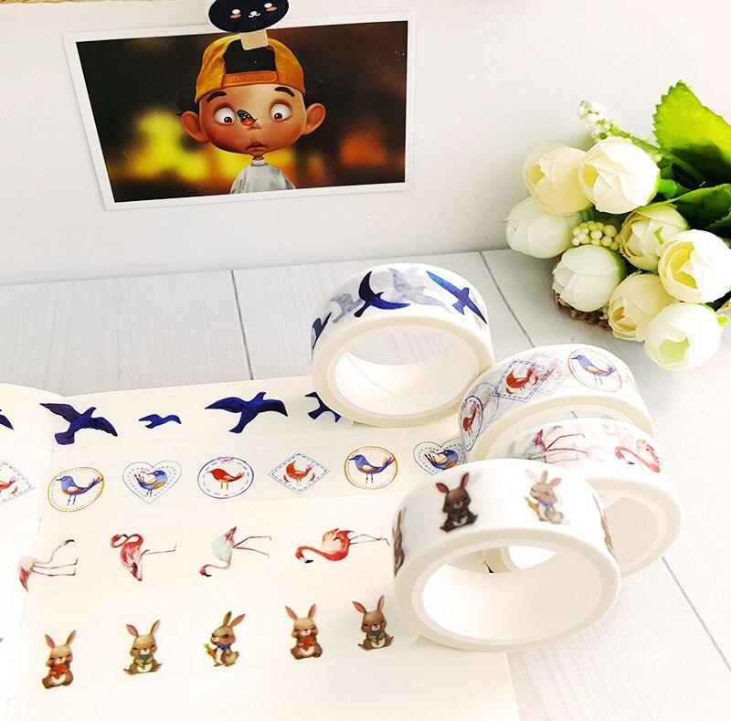 15mmX7m Kawaii Nastro Washi Ribbon Decorativo DIY Scrapbooking Masking Tape School Supplies Office Adesivo Etichetta Stationery