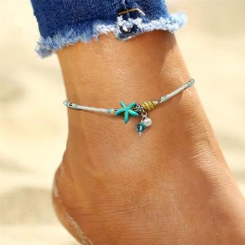 Bohemia Sea Turtle Starfish Charms Beach Anklet Shell For Women Boho Style 4