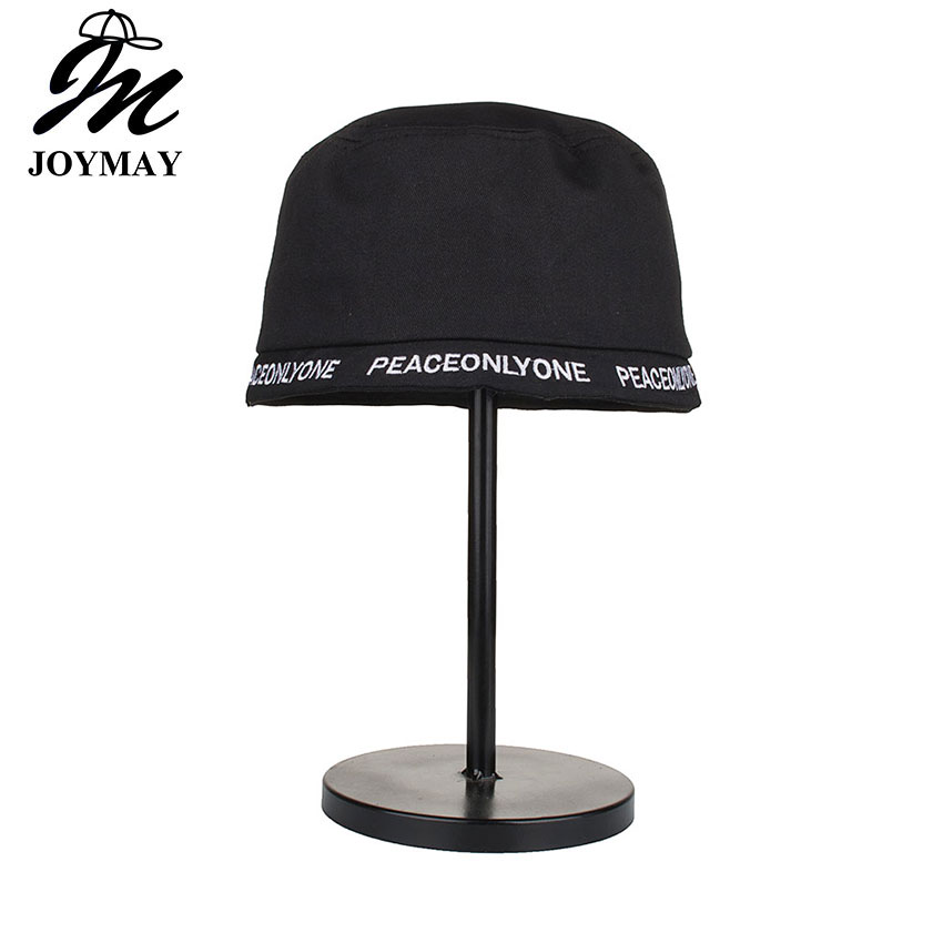 Joymay 2018 High quality Fashion New Arrival Spring Women Bucket Hat Peace only one Female Casual outdoor Hat YF005