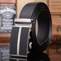 Big Buckle Crocodile Belt Mens Luxury 2016 New Hot Designer Belts Men High Quality Fiber Leather