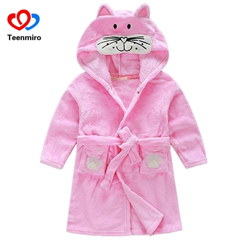 Baby Jongens Fluwelen Nachtkleding Gewaden Kinderen Badjassen Pyjama Voor Meisjes Kids Coral Kleding Peuter Cartoon Pijamas Kids Badjassen Warme Lof Van Klanten Winnen