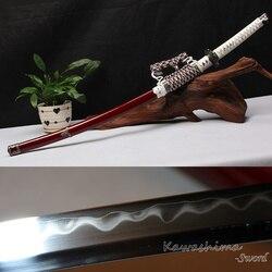 Freies verschiffen Geniune Odachi Japanischen Katana Handgemachte Soshu Kitae Laminierung Stahl Echt Samurai Schwert Schärfe