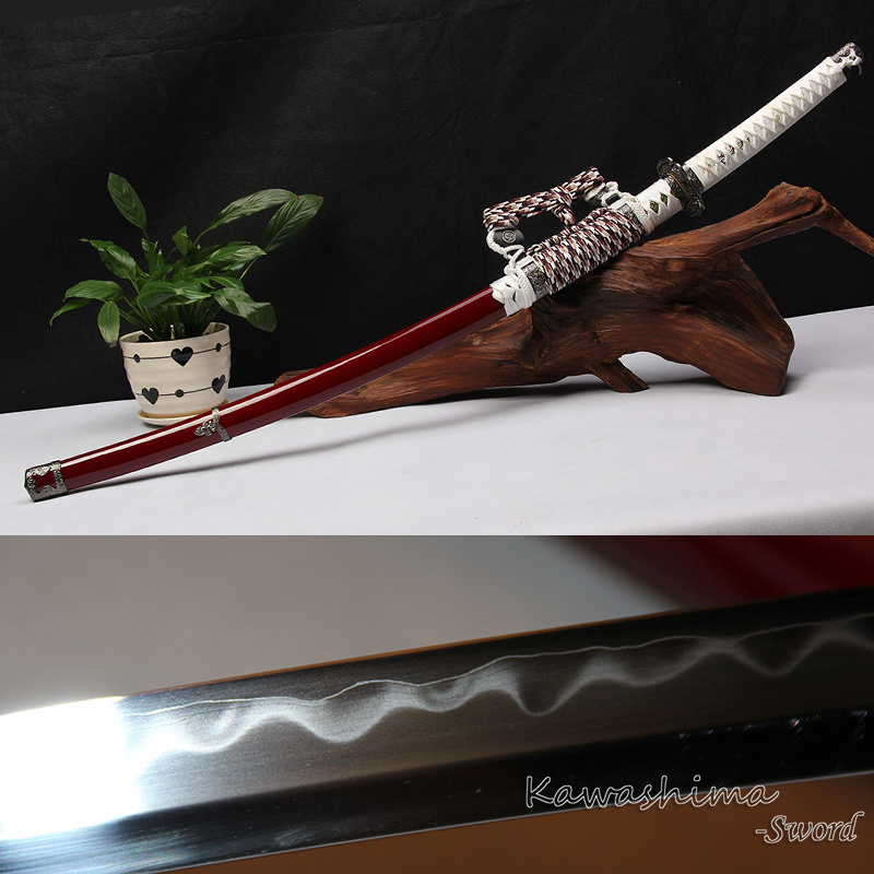 Frete grátis Geniune Odachi Japonês Artesanal Katana Soshu Kitae Aço De Laminação Real Espada Samurai Nitidez