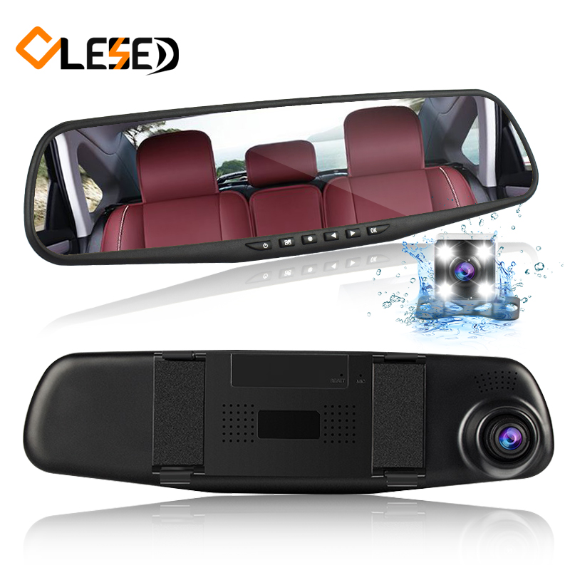 dual lens vehicle car camera rearview mirror auto dvrs cars dvr parking video recorder registrator dash cam full hd 1080p цена