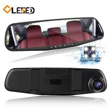 Двойная Линза Автомобиля камера зеркало заднего вида авто DVRs автомобили DVR парковка видеорегистратор регистратор видеорегистратор Full HD 1080 P