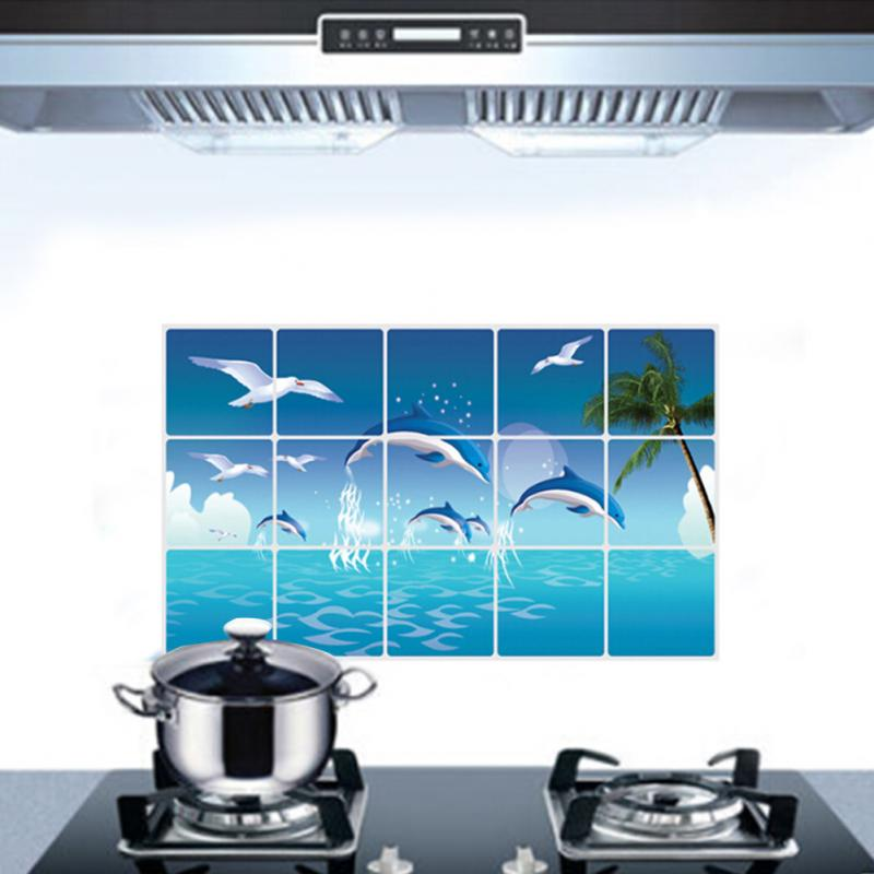 Dolphin Kitchen Waterproof Sticker Bathroom Tile For Wall Sticker Home Decor China Mainland