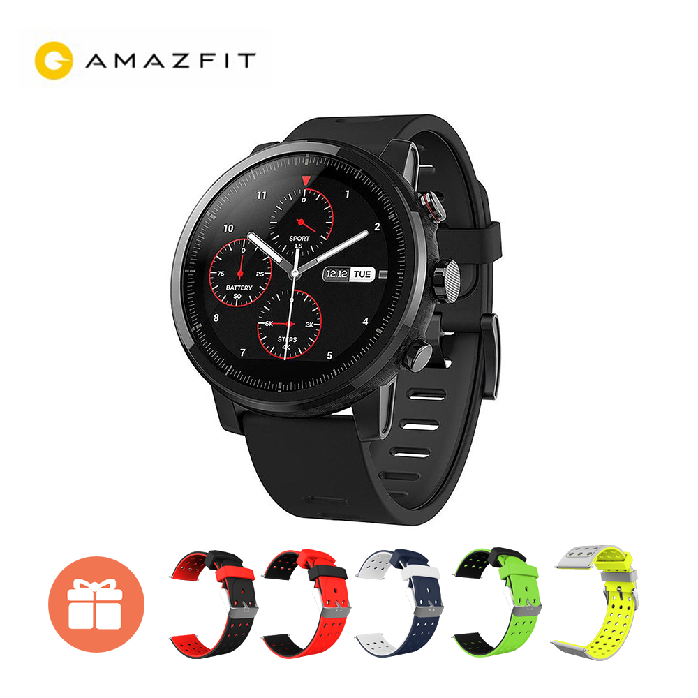 Global Version Xiaomi Huami AMAZFIT Stratos GPS 5ATM Waterproof Smart Sports Watch 2 Firstbeat Swimming