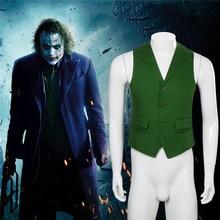 Takerlamaใหม่Batman Dark Knightเพิ่มขึ้นJokerเครื่องแต่งกายเสื้อกั๊กคอสเพลย์พ็อกเก็ตชุดเสื้อกั๊กฮาโลวีนชุดคอสเพลย์