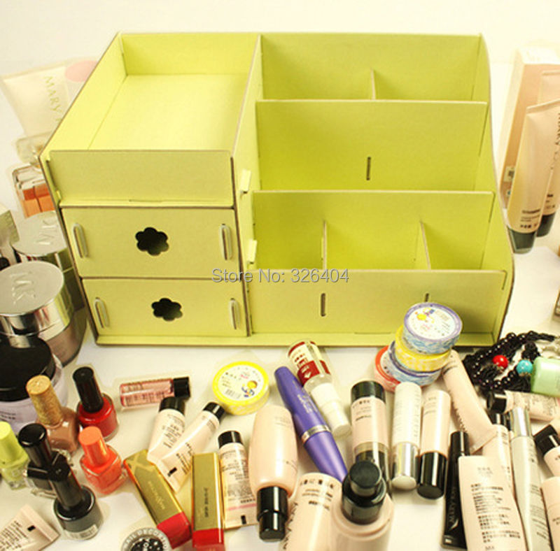 Diy Cardboard Storage Box Desk Decor Stationery Makeup Cosmetic Organizer Bag In Bags Cases From Luggage On Aliexpress