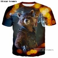 PLstar Cosmos Guardians of the Galaxy Cute Rocket Racoon n Groot Print 3D Men/Women t shirt Funny tshirt hip hop tops Harajuku