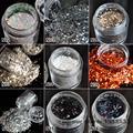 1 Bottle Nail Art Glitter Dust Powder For UV GEL Acrylic Powder Nail Art Decoration Tips DIY Tool 23 Colors for Choose