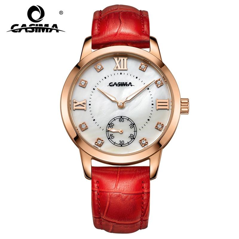 Relojes de marca de lujo mujer 2016 moda ocio mujer impermeable cuarzo de las mujeres W reloj de cuero #2606