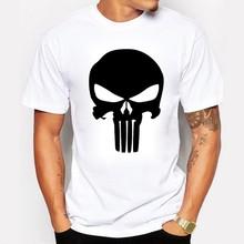The Punisher Skull Men Fashion T Shirt Print Marvel Comics Supper Hero Clothes HIP HOP Style Cool Summer T shirt Men Clothing