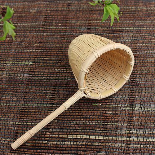 Natur Bambus Teesieb Filter Sieb Infuser Hand Made Weben Handwerk