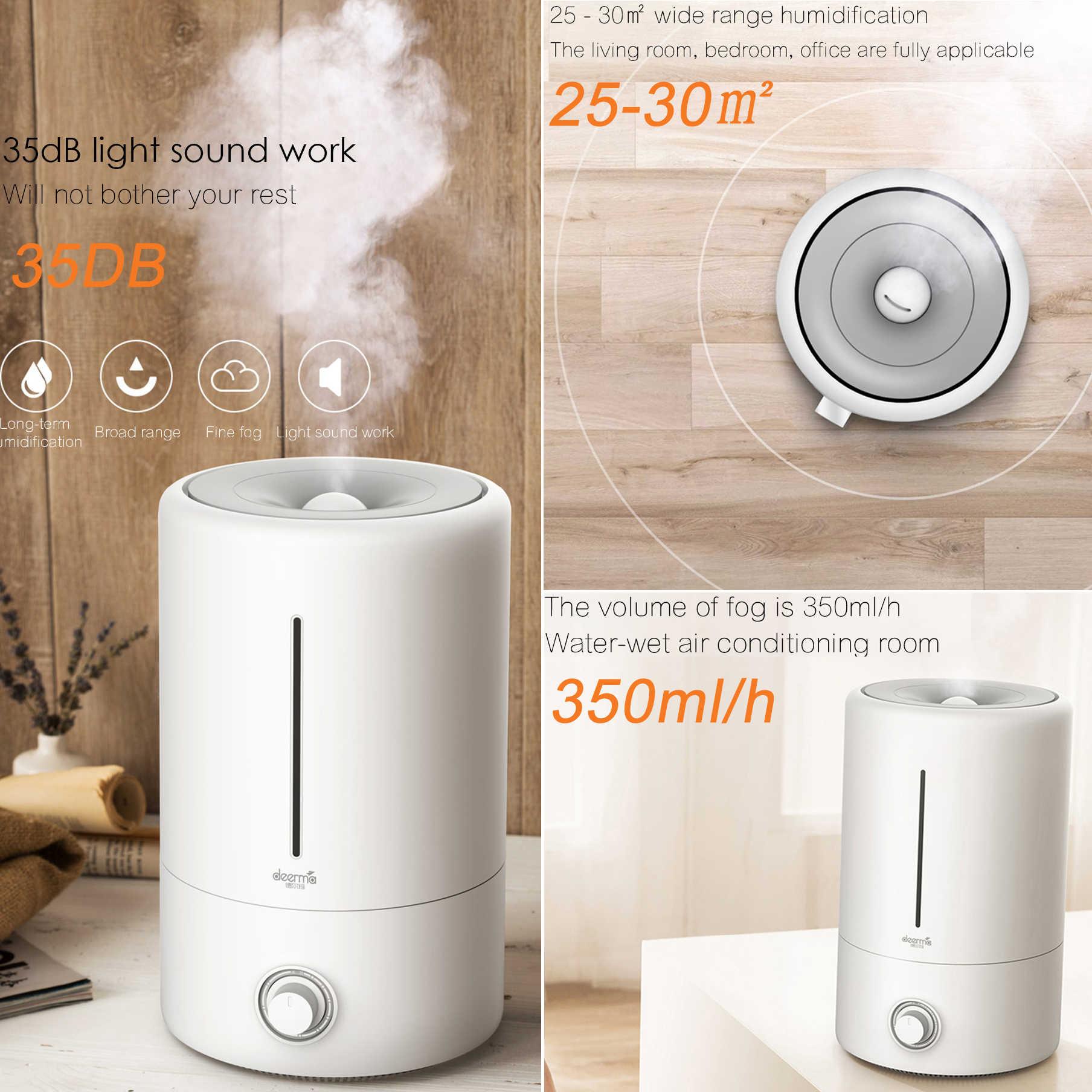 Xiaomi Deerma DEM F628 5L Air Humidifier Diffuser Purifier Filter Ultramute  Ultrasonic Pregnant Baby Clean Bedroom Home Office| | - AliExpress