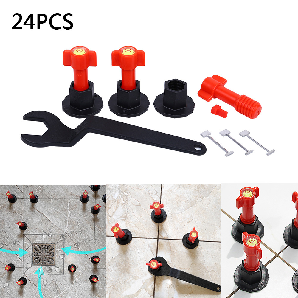 24 PCS Mini Level Wedges Alignment Tile Spacers For Flooring Wall Tile Carrelage Leveling System Leveler Locator Spacers Plier