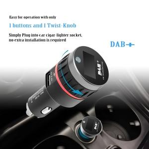 Image 2 - Car Digital DAB Receiver Cigarette Lighter Interface Car DAB Receiver OLED Display FM Launcher Car Charger Digital Radio