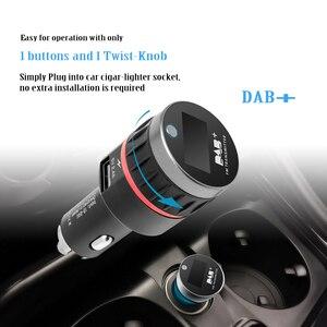 Image 2 - Автомобильный цифровой приемник DAB, интерфейс прикуривателя, Автомобильный приемник DAB, OLED дисплей, FM пусковое устройство, автомобильное зарядное устройство, цифровое радио