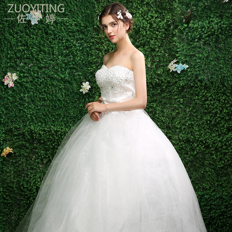 ZUOYITING 2017 Plus Size Fansmile Korean Lace Up Ball Gown Quality Wedding  Dresses Bridal Alibaba Wedding Dress Real Photo af2934a4af75