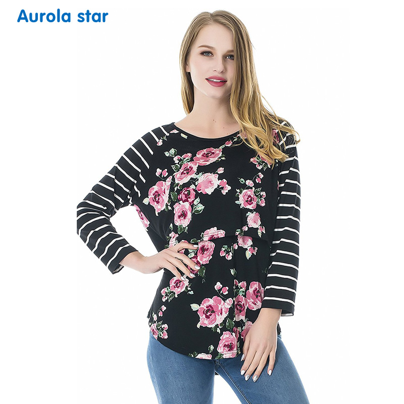Maternity Winter Clothing Blouse Tops Lo