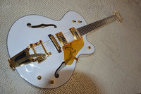 2017 fábrica custom branco gretsch falcon 6120 semi corpo oco jazz guitarra elétrica com bigsby tremolo guitarra electrica