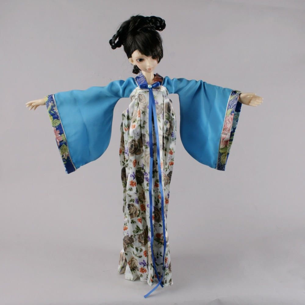 699# Blue Classical Chinese Ancient Dress set For 1/3 SD AOD DOD BJD Dollfie