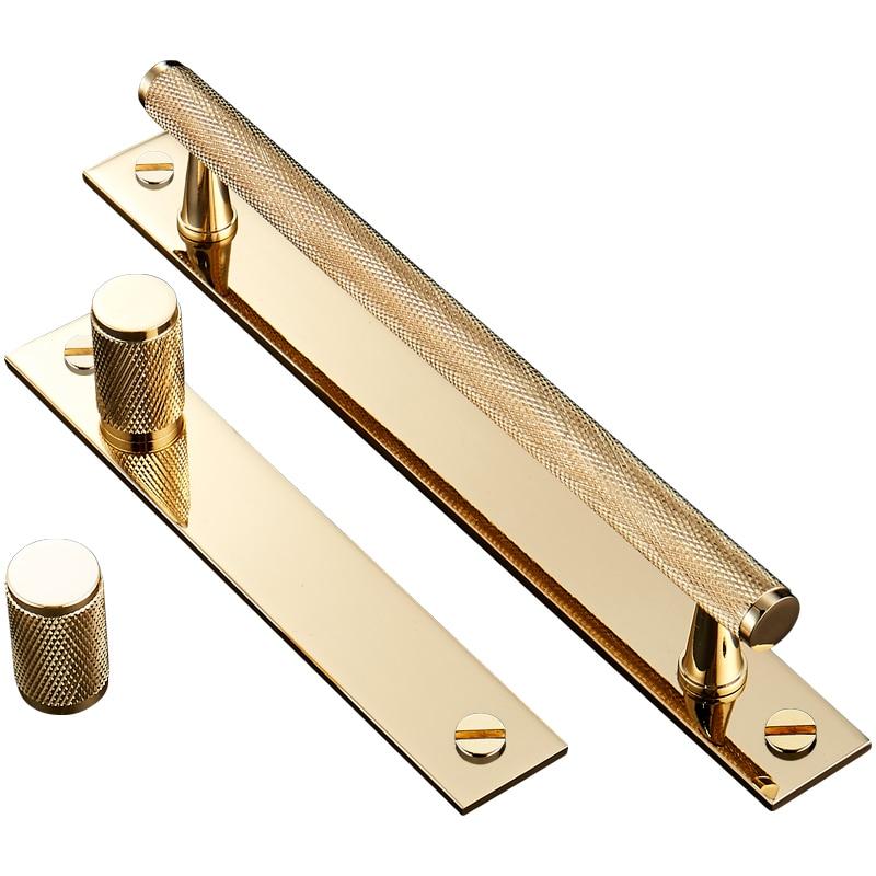 Black Kitchen Cabinets Brass Hardware: 2 Pcs/lot Gold Knurled Cabinet Handles Black/silver